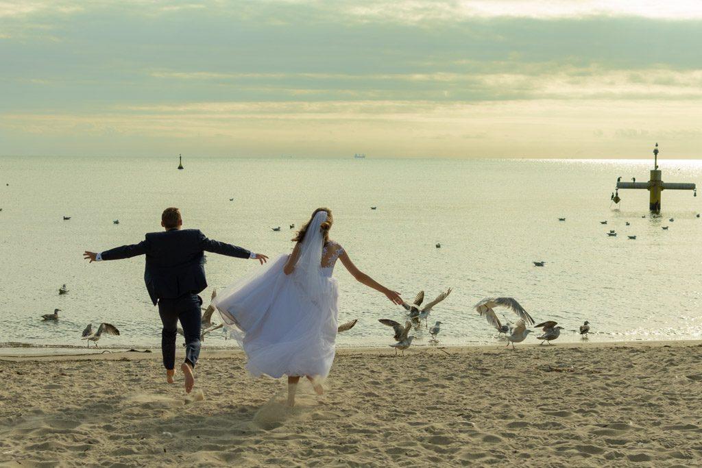 ślub plener orłowo molo park oliwski plaża sesja