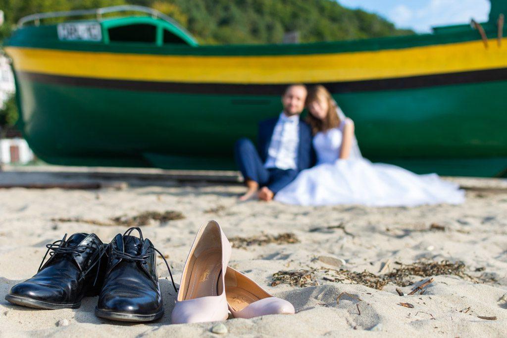 ślub plener orłowo molo park oliwski plaża sesja buty